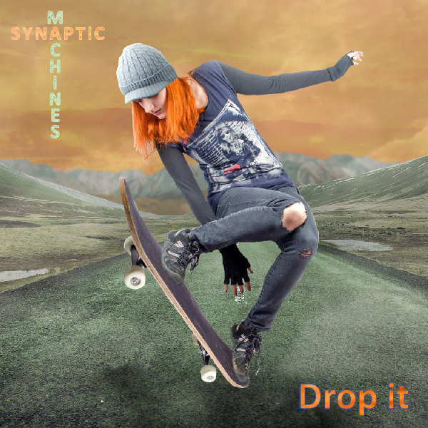 "CD Single Front cover of ""Drop it"" (Album ""Drop it"" produced by Edouard Andre Reny, Published by Synaptic Machines) This track is inspired by what I feel when surfing the road full blast on my longboard."