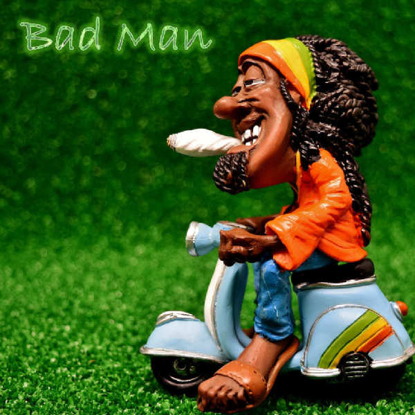 """Artwork of """"Bad Man"""": """"Bad Man"""" is a crazy electro dance track built around laser like synths, weird sound effects, catchy Ragamuffin vocal hooks, and a wild D&B rhythm. Goes psycho in the Bridge with crazy chopped sounds. This piece is Ideal as a theme track for a TV show, series, movie or commercial evoking insanity, action, crime or drive. Techno, insane music, madness, electropop, electronic music, ragamuffin, fusion, goa-trance, trance, lunatic, psychotic, mad, chaotic, psychopath, energetic music, dangerous music, schizo, electronic, nightclub, tension, night club, synth, drugs Music composed and Produced by Edouard Andre Reny. Brought to you by Synaptic Machines (www.synaptic-machines.com). The artwork is based on a picture found on pixabay.com (CC0 license)."""